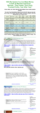 10 Trading Newsletters - 50% Recurring Commissions preview. Click for more details