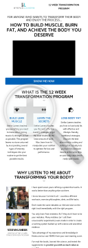 12 Week Transformation Program preview. Click for more details