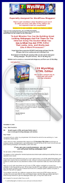 123 Wysiwyg HTML Editor preview. Click for more details