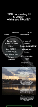 16 Week Conversational Spanish Course, Prestobilingua! preview. Click for more details