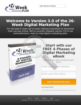 26-week Digital Marketing Plan Inner Circle preview. Click for more details