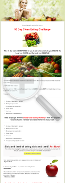30 Day Clean Eating Challenge preview. Click for more details