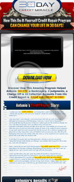 30 Day Credit Miracle Pays Out 75% Commissions! preview. Click for more details