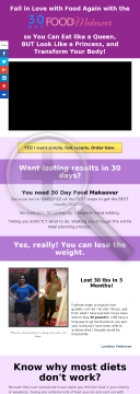 30 Day Food Makeover - High Converting Delicious Fat Loss System preview. Click for more details