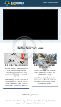 30 Day Success Club - Awesome New Biz Opp! preview. Click for more details
