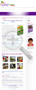 30 Super Healthy Kids Snacks preview. Click for more details