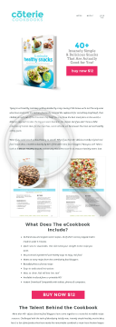 5-minute Snack E-cookbook preview. Click for more details