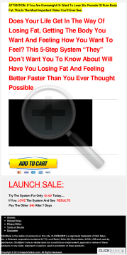 5 Steps To Fat Loss, Brand New Weight Loss Product, 2 Upsells preview. Click for more details