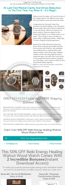 50% Off Wood Watches Offer- Physical Watches Made Of Wood preview. Click for more details
