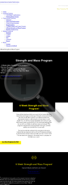 6-week Strength And Mass Program preview. Click for more details