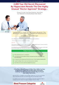 7 Day High Blood Pressure Solution preview. Click for more details