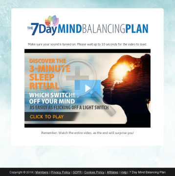 7 Day Mind Balancing preview. Click for more details