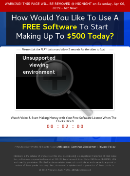 7 Minutes Daily Profits - #1 Biz-opp Offer In 2019 preview. Click for more details