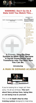 A Man In Demand Academy Dating System preview. Click for more details