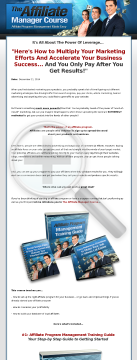 Affiliateprogram360.com - The Affiliate Managers Course preview. Click for more details
