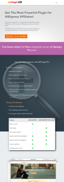 Aliexpress Affiliate Plugin preview. Click for more details