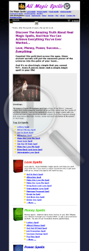 All Magic Spells (tm) : Top Converting Magic Spell Ecommerce Store preview. Click for more details