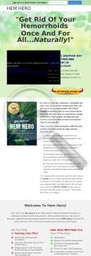 All-natural Ayurvedic Hemorrhoids Cure - 60% Commission! preview. Click for more details