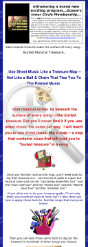All Piano Sheet Music Has Buried Treasure In It preview. Click for more details