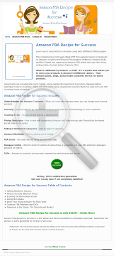 Amazon Fba Recipe For Success preview. Click for more details