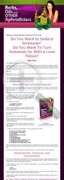 Aphrodisiacs - Spice Up Your Love Life. preview. Click for more details