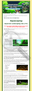 Aquascaping - Aquarium Landscaping Like A Pro preview. Click for more details