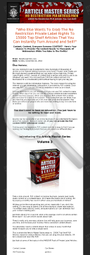 Article Master Series V3 preview. Click for more details