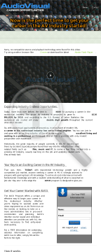Audiovisual Career Opportunities preview. Click for more details
