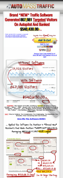 Auto Mass Traffic Generation Software preview. Click for more details