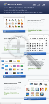 Awesome Web Icon Set Bundle preview. Click for more details