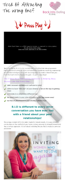 Back Into Dating Online Course preview. Click for more details