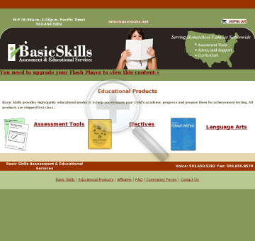 Basic Skills Assessment & Educational Services preview. Click for more details