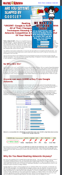 Beating Adwords. preview. Click for more details