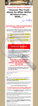 Beatingcheating.com: Uncover A Cheating Spouse - Fast! preview. Click for more details