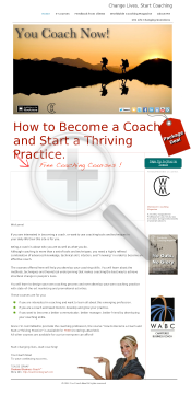 Become A Coach And Start Changing Lives. preview. Click for more details