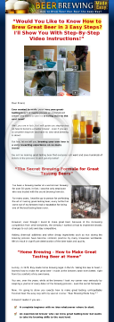 Beer Brewing Made Easy ~ High Conversions Huge Market - With Video! preview. Click for more details