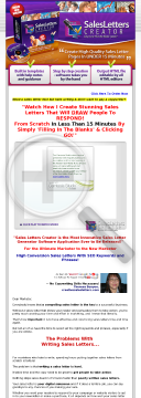 Best Sales Letters Creator Software At $17 Special! preview. Click for more details