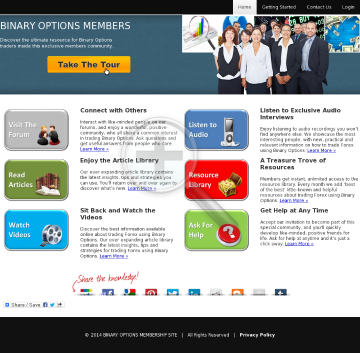 Binary Options Membership Site preview. Click for more details
