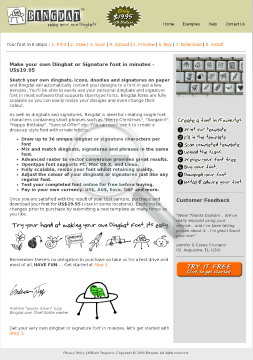 Bingdat - Make Your Own Dingbat Fonts From Sketches & Doodles preview. Click for more details