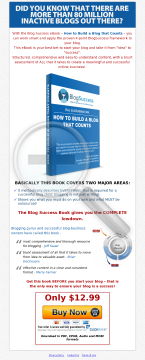 Blog Success Ebook - How To Build A Blog That Counts preview. Click for more details