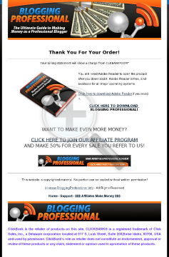 Blogging Professional preview. Click for more details