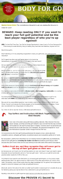 Body For Golf-75% Commission preview. Click for more details