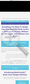 Bookcoverly Book Cover Design Software preview. Click for more details