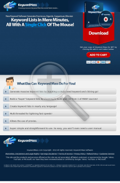 Brad Callen's Keyword Mass Software: Generate Huge Keyword Lists! preview. Click for more details
