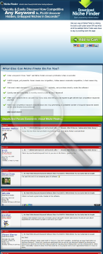 Brad Callen's Niche Finder Software. Find Low Comp Keywords & More! preview. Click for more details