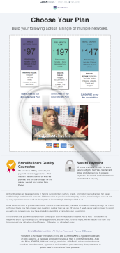 Brandbuilders - Social Growth Service preview. Click for more details
