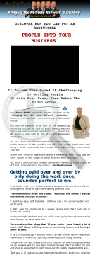 Bringing The Net Into Network Marketing... Ultimate In Lead Generation preview. Click for more details