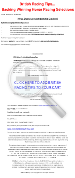 British Racing Tips preview. Click for more details