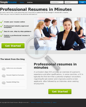 Build A Professional Resume In Just 10 Minutes preview. Click for more details