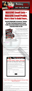 Building Big Email Lists preview. Click for more details